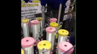 2013 ICAST Watch How Braid Is Made by TUF-Line