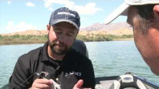 Jarrett Edwards fishes with FLW Tour angler Roy Hawk on Lake Havasu
