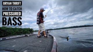 How to catch BASS in Hi-Pressured Areas - Ft. Bryan Thrift 2017 AOY