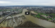 Officials Survey River Systems & Flooded Areas | Aerial Vid