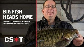 Illinois state record Smallmouth Bass released