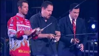 Mike Iaconelli Showing Jimmy Kimmel His Top Fishing Secrets