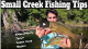 Small Creek Fishing Tips VIDEO
