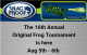 Save the Date | 2017 Snag Proof Frog Tournament