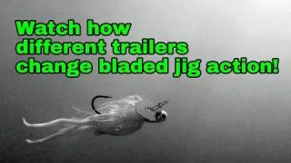 Underwater video: How trailers change bladed jig action!