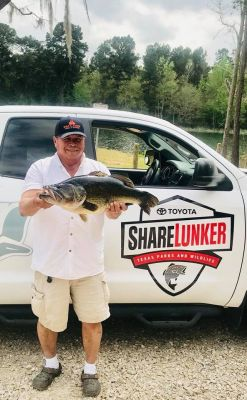 On March 25, Pablo Torres Jr. got his 13.34 pound Legacy Lunker, out of Kurth Lake. Texas Parks and Wildlife Department reported that it was the first time in the 32-year history of the Toyota ShareLunker program that the Kurth Reservior in Lufkin produced a largemouth over 13-pounds. 
