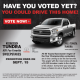 Have you voted? It's your chance to own a Toyota Tundra!