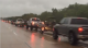 Massive line of Fishing Boats On Highway Heading to Help in Texas VIDEO