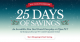 Tackle Warehouse - 25 Days of Savings & 10% Off Gift Cards‏