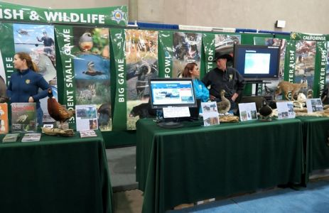 California Dept. of Fish and Wildlife at Annual Sportsmen's Show in Sacramento