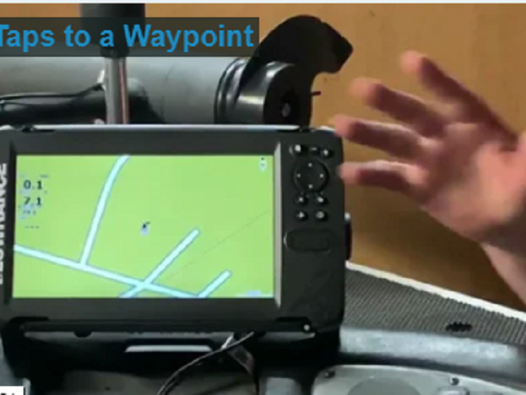 3 Taps to a Waypoint QUICK VID - One of the easiest units you will ever use - Lowrance Hook2