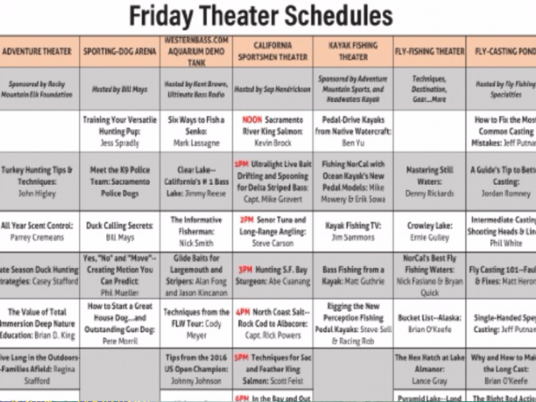 Friday Schedule at ISE2017 Sacramento | Click here for the Daily SChedule of Events - Friday's Theater and Seminar Schedule for Friday at ISE.