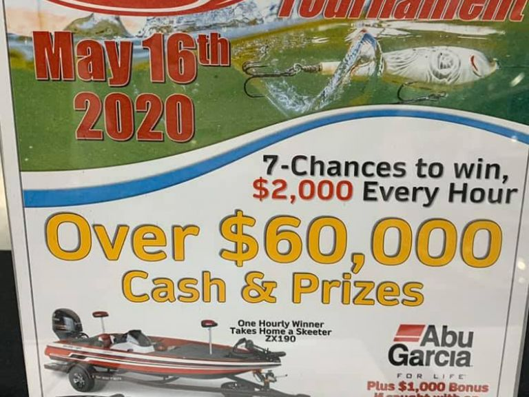7 Chances to Win $2000 Every Hour - Berkley Big Bass!