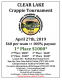 LAST CHANCE OF THE SEASON!!!! CLEAR LAKE CRAPPIE