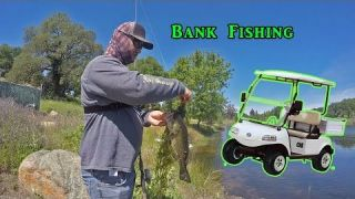 Golf Cart Bank Fishing VIDEO