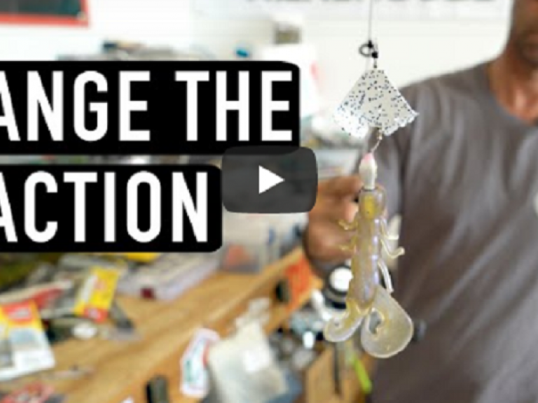 Sneaky Buzzbait Modifications VIDEO - Mike Iaconelli shows how to change the action of a buzzbait with this mod