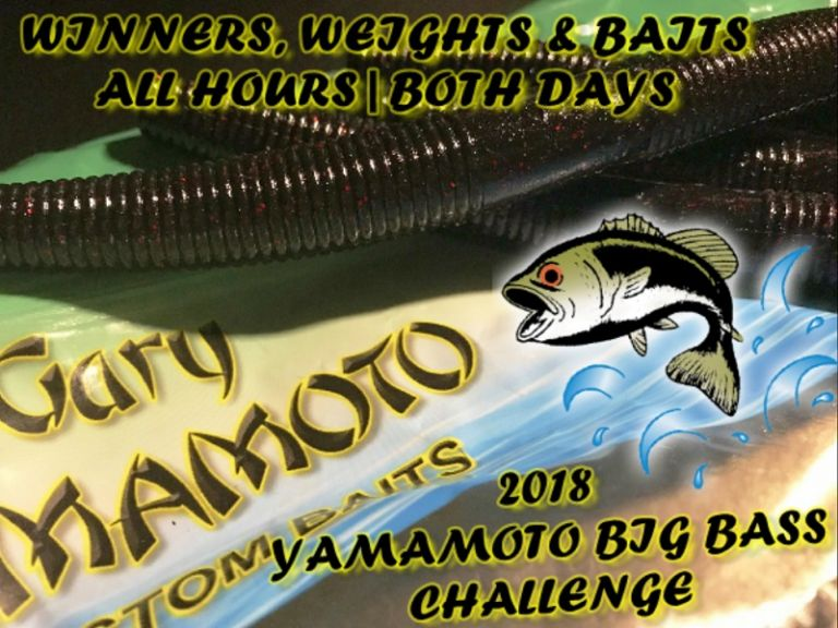 2018 Yamamoto Big Bass Challenge ALL Hourly Winners - Winners, Weights and Baits of all hourly winners for both days of the 2018 Yamamoto Open on the California Delta