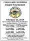 100% Payback Clear Lake Crappie Tournament #2 | February