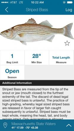 Free app connects anglers with saltwater fishing regs for Fish rules app