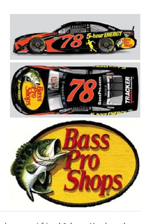 Martin truex jr continues with bass pro shops for Bass pro monster fish