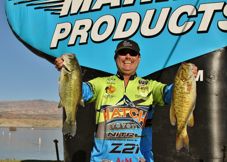 Johnson takes lead day one of wild west bass trail at lake for Johnny johnson fishing