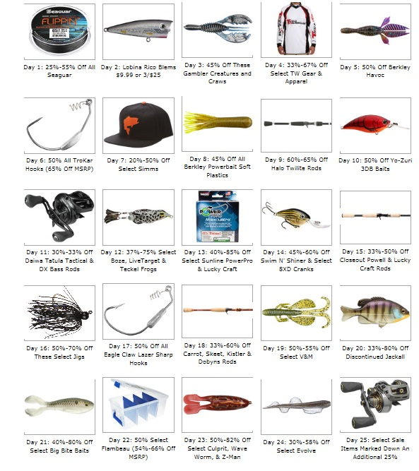 tackle warehouse all 25 days of savings revealed 10 off gift cards ends soon