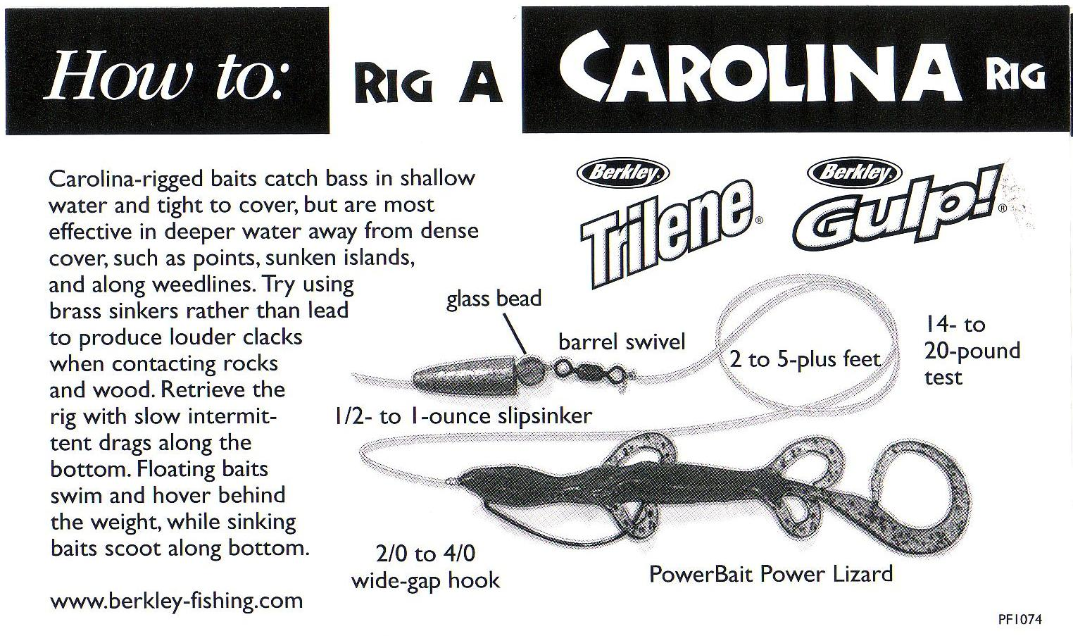 Carolina rig for post spawn bass for A rig fishing