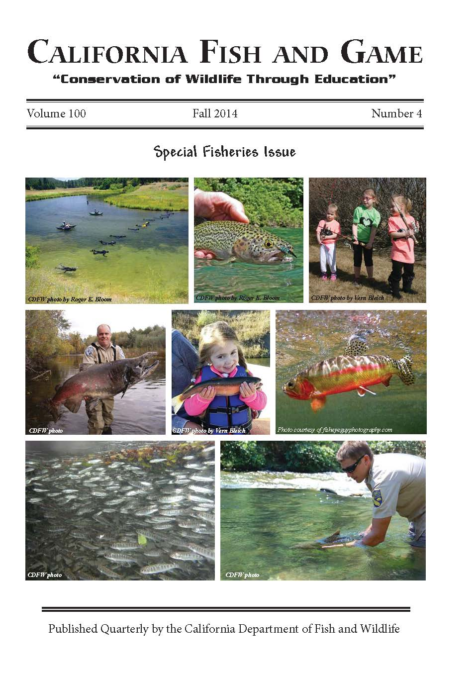 California fish and game scientific journal completes for New mexico game and fish login