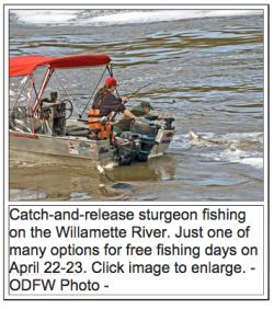 Don 39 t miss free fishing days april 22 23 for Free fishing weekend oregon