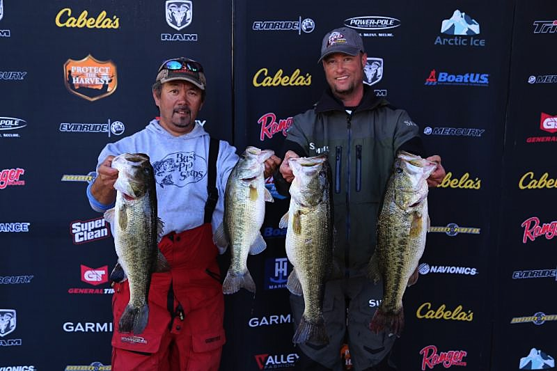 Texas team trail finishes season opener on sam rayburn for Fishing tournaments in texas
