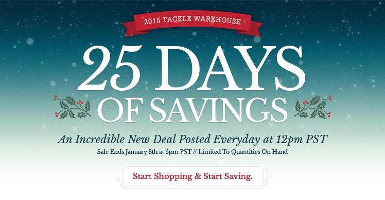 Tackle Warehouse - 25 Days of Savings & 10% Off Gift Cards ...